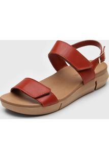 Sandália Bottero Velcro Vermelha