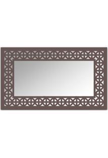 Espelho De Parede 12880I Marrom 70X110 Art Shop