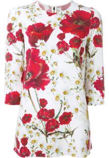 Dolce & Gabbana Blusa Estampada - Branco