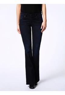 Calça Jeans Diesel Sandy-B Feminina - Feminino-Azul