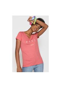 Camiseta Roxy Since 1990 Rosa