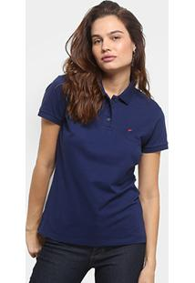 ... Camisa Polo Ellus Piquet Elastano Logo Feminina - Feminino-Marinho 9c164d20b431d