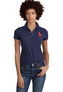 Camisa Polo Polo Ralph Lauren Slim Azul-Marinho