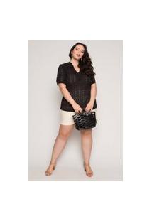 Bolsa Almaria Plus Size Salva Look Dubai Vazado Preto