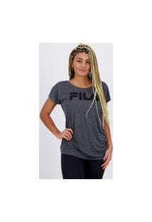 Camiseta Fila Drapped Feminina Grafite Mescla