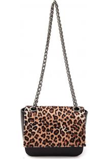 Bolsa Transversal Maria Milão Mini Bag Onça