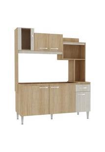 Cozinha Compacta Fellicci Cc90-Cv/Bl Angel 6 Portas Carvalho/Blanche