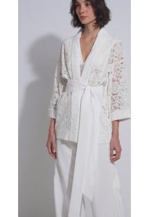 Kimono Le Lis Blanc Jessica Alfaiataria Off White Feminino (White, M)