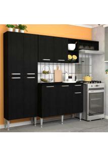 Cozinha Completa Compacta Com Armário E Balcão Com Tampo Lisboa Multimóveis Preto