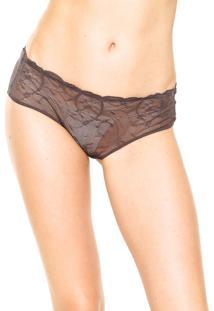 Calcinha Calvin Klein Underwear Transparente Marrom