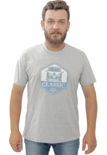 Camiseta Cheiro De Gasolina Kombi Classic Cinza