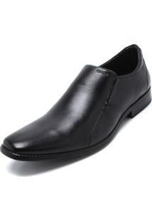 Sapato Social Couro Ferracini Recorte Preto