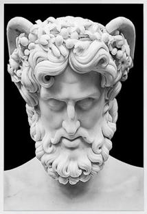 Quadro Decorativo Greek Face- Branco & Preto- 60X80Carte Prã³Pria