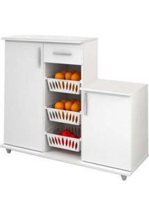 Armário Cozinha 310 Branco Com Fruteira Benetil -Branco