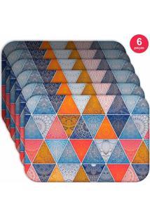 Jogo Americano Love Decor Wevans Geometric Abstract Mandalas Kit Com 6 Pçs