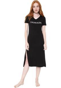 Camisola Calvin Klein Underwear Midi Modern Preta