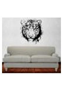 Adesivo De Parede Animais - Tigre - P 46X50Cm