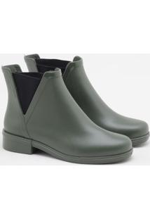 Ankle Boot Terra & Água Verde Musgo