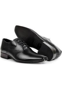 Sapato Social Couro Clássico Bico Fino Bigioni Masculino - Masculino-Preto