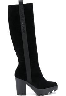 Calvin Klein Jeans Bota Altura Do Joelho - Preto
