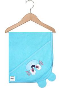 Toalha De Banho Mafessoni Capuz Orelhinha Azul