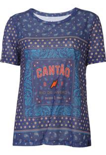 Camiseta Cantão Bandana Tee Azul