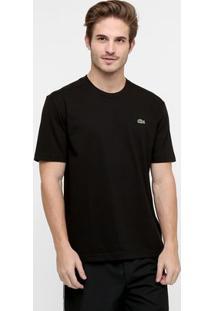 Camiseta Lacoste Gola Careca - Masculino-Preto