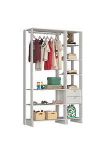 Estante Closet Nova Mobile Ey101 Yes 2 Gavetas E 8 Prateleiras