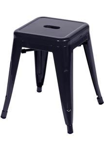Banqueta Retrô- Preta- 46X39,5X39,5Cm- Or Designor Design