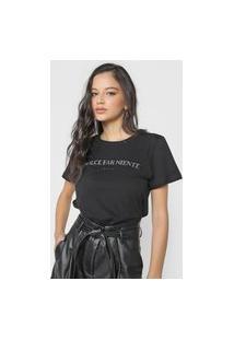 Camiseta Forum Dolce Far Niente Preta