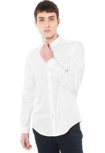 Camisa Calvin Klein Jeans Reta Básica Branca