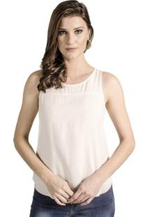 Regata Viscose Ana Hickmann - Feminino-Off White