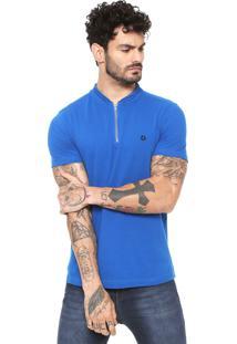 Camiseta Iódice Manga Curta Azul