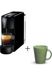 Cafeteira Nespresso Essenza Preto C30-Br - 110V + Canecas Basic Em Ceramica 04 Pecas Verde Salvia - Porto Brasil