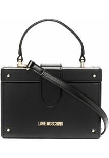 Love Moschino Bolsa Box Com Alça De Mão - Preto
