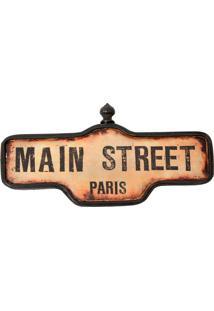 Placa Decorativa Main Street Paris