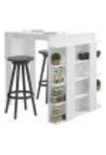 Mesa De Cozinha Com Prateleiras Smart 1003 Branca