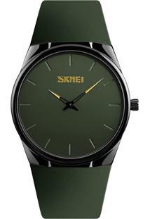Relógio Skmei Analógico 1601S - Verde E Preto