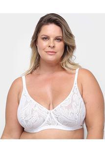 Sutiã Marcyn Com Aro Básico Plus Size - Feminino-Branco