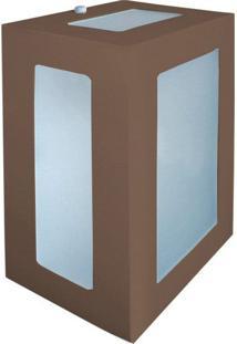 Arandela Biancoluce Retangular Marrom 20Cm Em Alumínio Estilo 1213 Luminárias