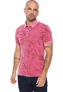 Camisa Polo Aramis Floral Rosa