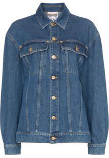 Moschino Jaqueta Jeans Com Paetês - Azul