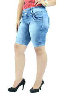 Bermuda Jeans Anagrom Azul Claro Mesclado