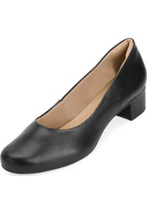 Sapato Salto Baixo Aquarela Aq20-Ig01 Preto