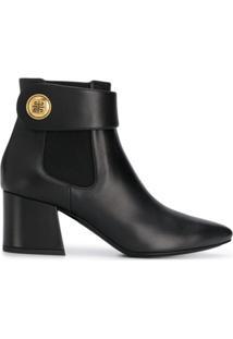 Givenchy Ankle Boot Com Logo - Preto