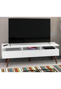 Rack Para Tv Até 50'' Diniz 3 Portas Branco - Madesa
