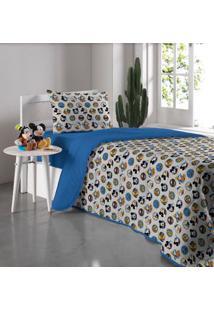 Edredom Solteiro Disney Azul