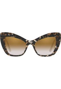... Óculos Dolce   Gabbana Dg4349 911 6E Estampado Tartaruga Lente Espelhada  Ouro Marrom Degradê Tam 2e183d6ec9
