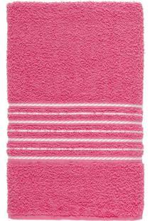 Toalha De Banho Felpuda 100% Algodão 65X120 Escala - Rosa