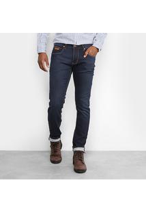 Calça Jeans Skinny Forum Igor Escura Estonada Masculina - Masculino-Jeans